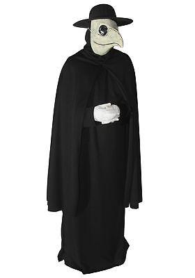 Dr. Peste Adult Costume Di Venezia Plague Death Doctor Black Robe Hat Mask
