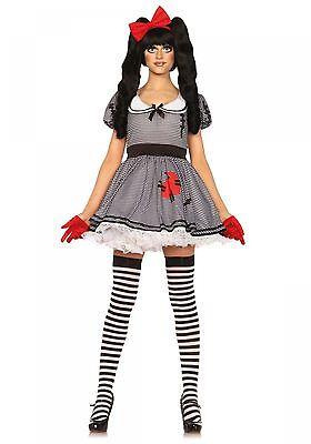 LAG Leg Avenue 85379 Sexy Damen Kostüm Puppe Voodoo Doll Wind Up Doll  - Wind Up Puppe Kostüm