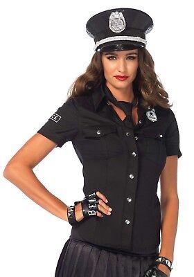 IAL Leg Avenue 2640 Fasching Kostüm Zubehör Polizei Shirt Bluse Police Shirt - Polizei Kostüm Zubehör