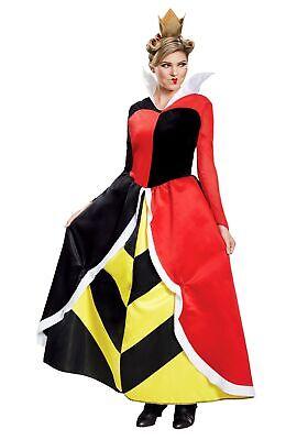 Queen of Hearts Alice in Wonderland Womens (Womens Queen Of Hearts Kostüm)