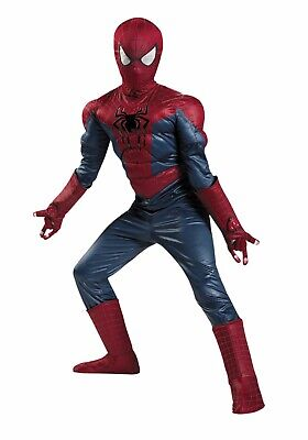 Amazing Spider-Man Prestige Muscle Costume Marvel Comics SIZE 7-8 Disguise 73035