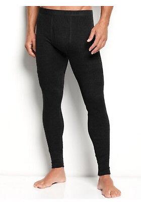 Mens THERMAL Underwear Bottom Long John Weather Proof Pants Leggings Warm SOLID  (Mens Thermal Long John)
