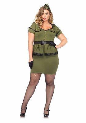 Woman's Commander Cutie Plus Size Costume Army Military Dress Leg Avenue 85427X (Plus Size Military Costumes)