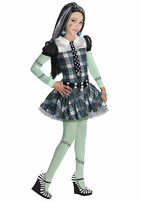 Monster High Theme Colors (Monster High Frankie Stein Child Costume Colorful Theme Party Funny)