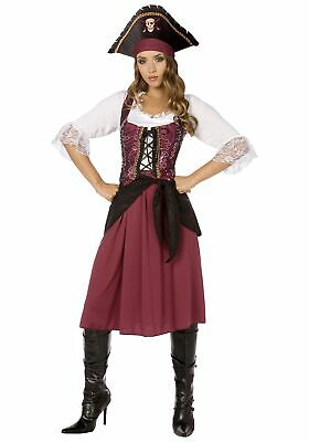 Plus Burgundy Pirate Wench (Pirate Wench Kostüm Plus)
