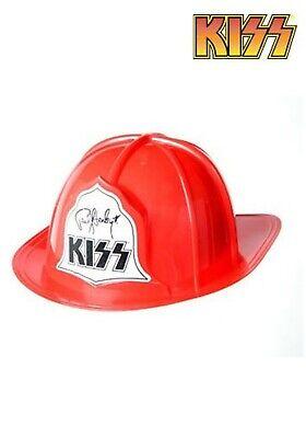 Plastic Fire Helmet (NEW KISS Firehouse Fire Hat Helmet Paul Stanley END OF ROAD FREE U.S.)