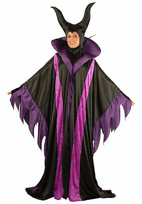 Maleficient Witch Adult Women Halloween Costume Villain Sorceress Black Purple