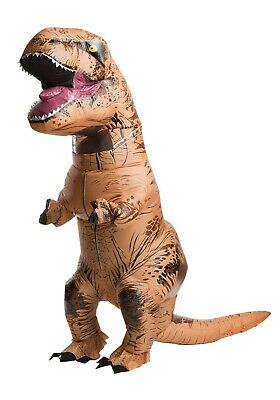 ADULT INFLATABLE JURASSIC WORLD T-REX COSTUME SIZE STANDARD (with defect)
