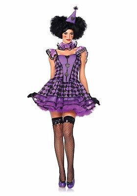 Pretty Parisian Clown Sexy Adult Halloween Cosplay Jester Costume 85354 Size S](Pretty Clown)