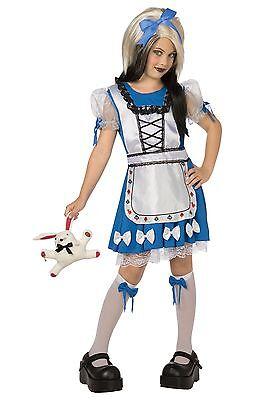 Bad Alice Gothic Costume - Size Women's Medium (10-12) (Goth Alice In Wonderland Costume)