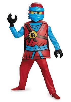 Girls LEGO NINJAGO Prestige Nya Halloween Costume Sizes SM 4- Med 7-8 NEW in Box - Red Ninjago Halloween Costume
