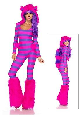 WOMEN'S SEXY CHESHIRE CAT COSTUME SIZE S/M (with defect) (Cheshire Cat Sexy Kostüme)