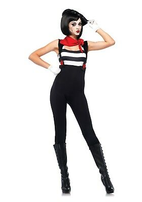 WOMENS MARVELOUS MIME COSTUME SIZE MEDIUM, LARGE (w/defect) - Mimes Costumes
