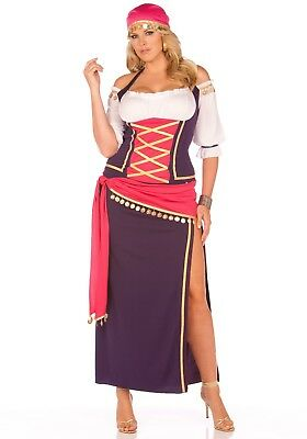 Gypsy Maiden Costume (PLUS SIZE WOMEN'S GYPSY MAIDEN COSTUME SIZE 1X/2X)
