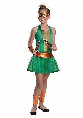 Teenage Mutant Ninja Turtles TMNT Michelangelo Tween Costume 8-10 Medium - Tween Ninja Turtle Costume
