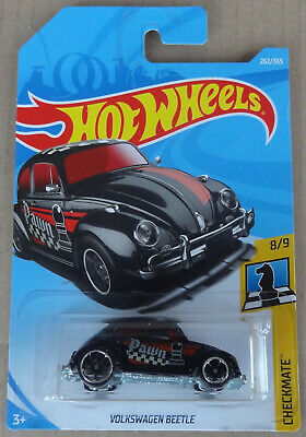 Hot Wheels - VW Volkswagen Beetle - 'Pawn' in BLACK - Checkmate - MOC