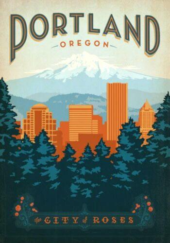 MAGNET TRAVEL Photo Magnet PORTLAND Oregon City of Roses