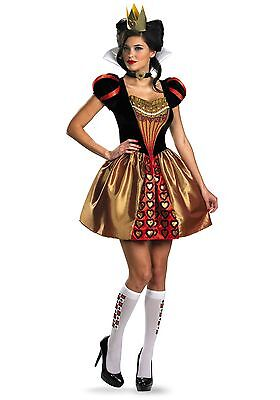 Red Queen Alice In Wonderland Costume (Womens Sexy Red Queen Alice in Wonderland Costume size Medium 8-10 (with)