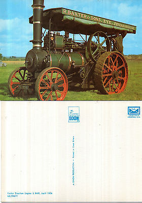 1926 FOSTER TRACTION ENGINE 5 NHP UNUSED COLOUR POSTCARD BY DIXON L6 / 7947 T