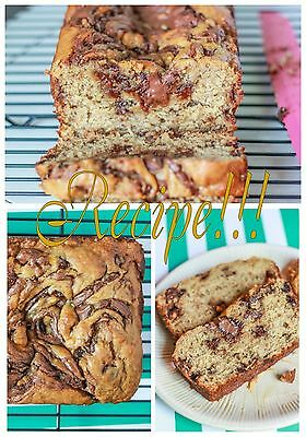 Nutella Swirled Wonder  Nutella Swirled Peanut Butter Banana Bread  Recipe