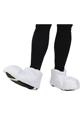 Cartoon Adult Feet Shoe Covers White Big Style Costume Video Game - Big Feet Costume