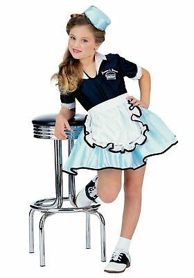 Rubies 1950s Auto Hop Speiselokal Kellnerin Mädchen Kinder Halloween - Kellnerin Kostüm Kind