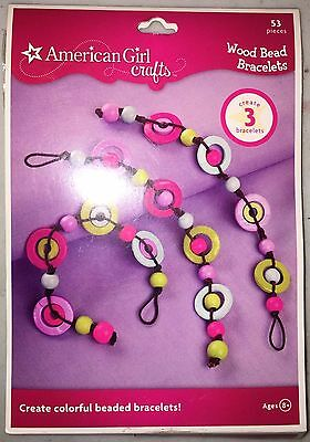 AMERICAN GIRL Kid Crafts Circle Create 3 Wood Bead BRACELETS Kit
