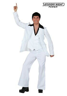 ADULT DELUXE SATURDAY NIGHT FEVER GROOVY DISCO DANCE COSTUME USED SIZE LARGE - Saturday Night Fever Costume
