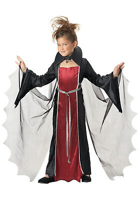Dracula Girl Costume (Vampire Girl Dracula Child Halloween Costume Fancy Dress Size)