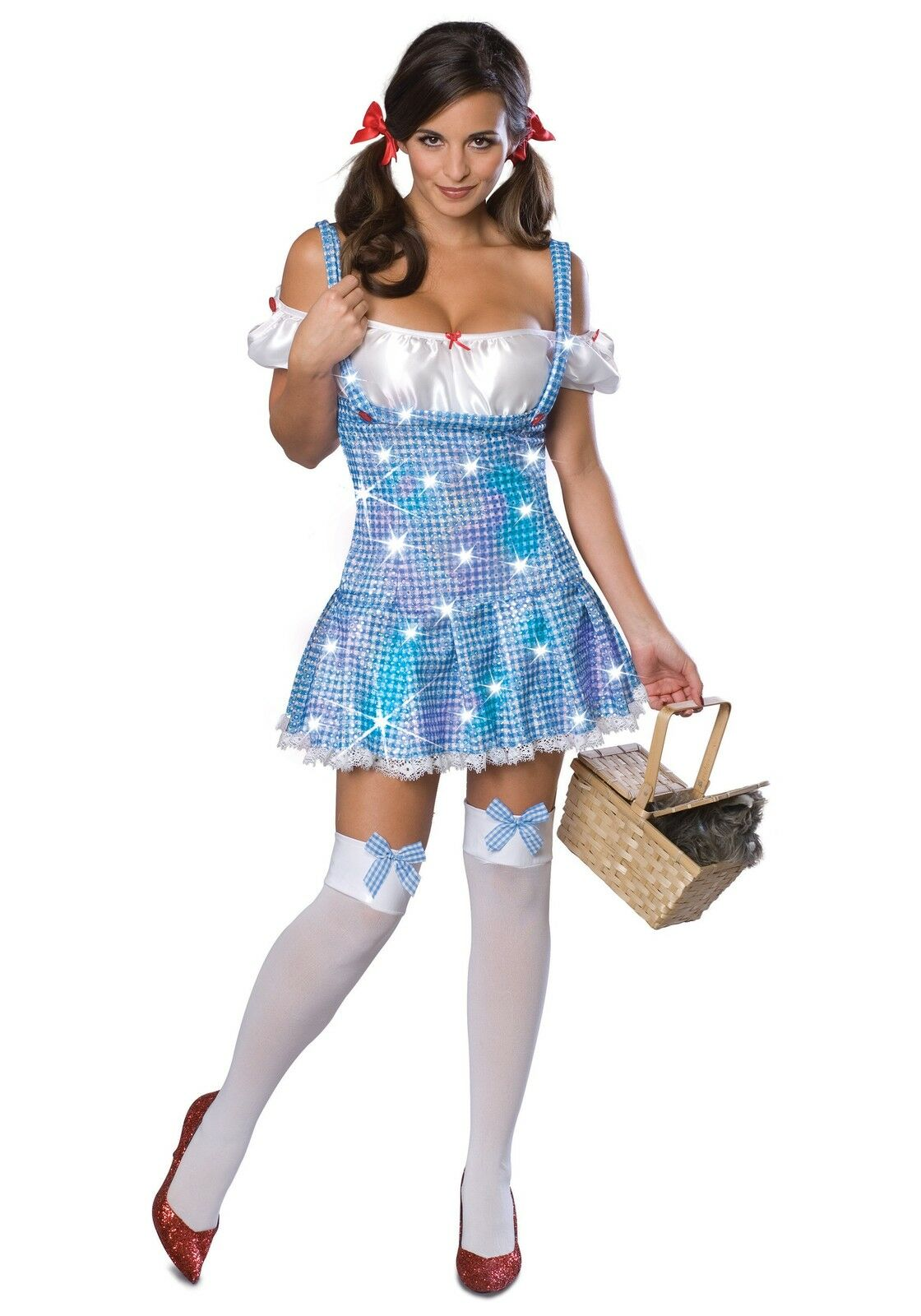 Dorothy Wizard of Oz Country Girl Pigtails Party Wig Halloween 0146
