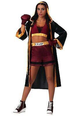 WOMEN'S TOUGH BOXER COSTUME SIZE SMALL  - Woman Boxer Costume