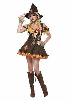 Womens Halloween Costume Wizard of Oz Sassy Scarecrow Dress  (Woman Wizard Costume)