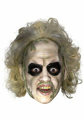 Beetlejuice 3/4 Vinyl Mask w/Hair](Beetlejuice Mask)