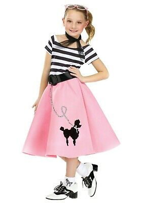 Poodle Skirt Costumes For Girls (GIRL'S POODLE SKIRT DRESS COSTUME SIZE MEDIUM 8-10 (missing scarf and)