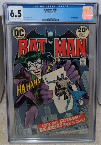 Batman #251 (1973) CGC 6.5 - Classic Neal Adams Joker Cover DC Comics Key
