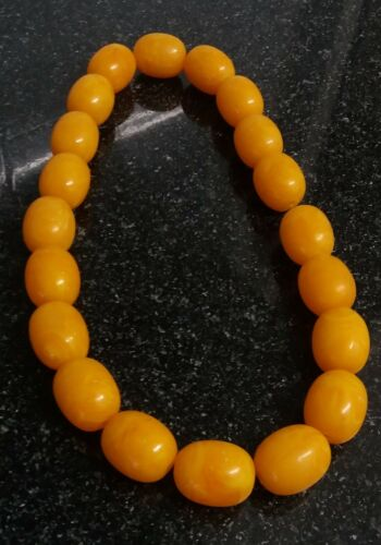 Antique Butter scotch Yellow bakelite amber color beads