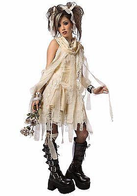 Ladies Mummy Halloween Costume (SEXY Ladies Woman GOTHIC MUMMY Egyptian Punk HALLOWEEN COSTUME Large Brand New)