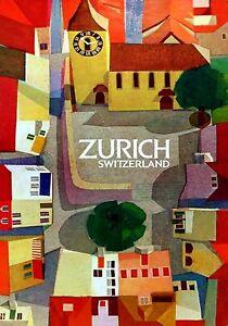 MAGNET  TRAVEL Photo Magnet  ZURICH Switzerland Village