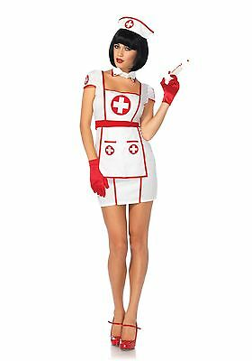 LAG Leg Avenue 85539 Fasching Damen Kostüm Krankenschwester Hospital Heart Nurse (Leg Avenue Krankenschwester)