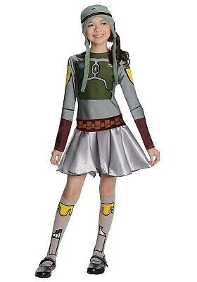 GIRLS STAR WARS BOBA FETT DRESS COSTUME SIZE LARGE 12-14