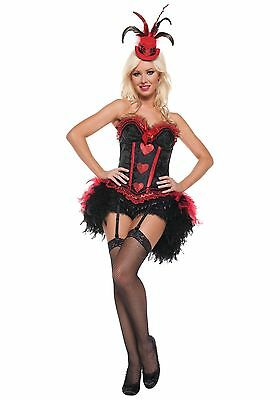 Women's Sexy Cabaret Showgirl Costume by Mystery House Size Large and XL