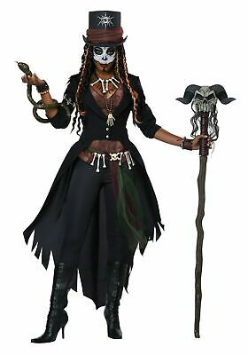 Doctor Costume For Women (Deluxe Voodoo Magic Priestess Costume Witch Doctor 7pcs Adult Women's)