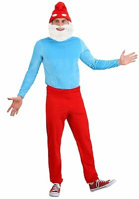 Smurf Costume Men (The Smurfs Adult Papa Smurf)