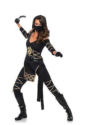 Ninja Kostüme Sexy (IAL Leg Avenue 85629 Sexy Damen Kostüm Ninja Stealth Ninja Krieger Warrior )