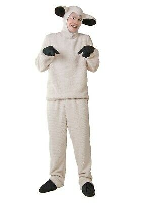 ADULT PLUS SIZE SHEEP COSTUME USED SIZE 2X - Sheep Adult Costume