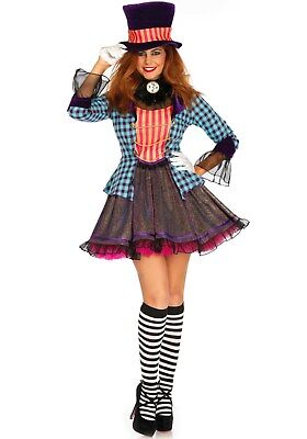 LAG Leg Avenue L085648 Damen Kostüm Hutmacher Ravishing Mad Hatter Alice Märchen
