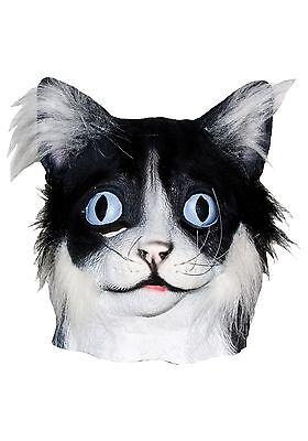 Full Cat Mask Latex and Faux Fur Realistic Kitten Head Halloween Costume - Cat Head Mask