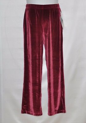 (Bob Mackie Stretch Velvet Pull-on Pants Size M Ruby Red)