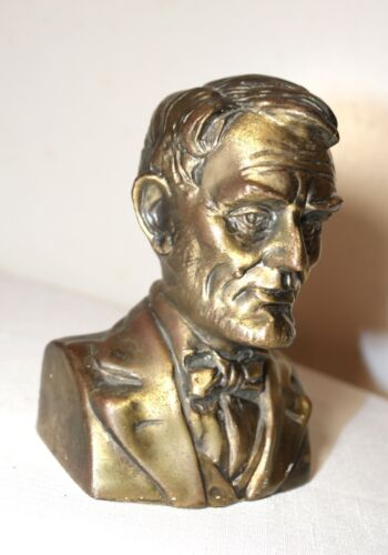 antique bronzed Abraham Lincoln national life insurance co. coin change bank