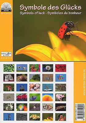 Postkartenbuch Symbole des Glücks 30 Postkarten  Glückssymbole — B-Ware